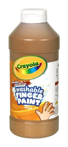 Crayola Washable Fingerpaint 32-Ounce Plastic Squeeze Bottle, Brown by Crayola (Fingerpaint Crayola)
