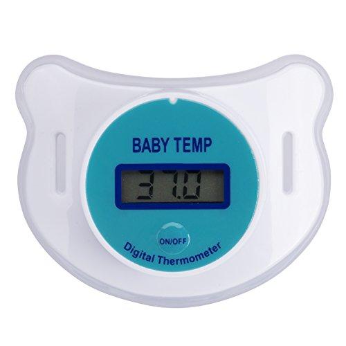 Bravoy LED Digitales Schnuller Thermometer für Baby Kleinkind Schnullerthermometer mit Auto-Off-Funktion Speicherfunktion (65 x 50 x 44mm) - Digitale Baby Schnuller-thermometer