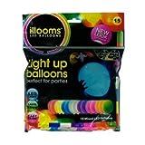 Mags Leuchtende Led Luftballons Set mit 15 Stück Hochzeit Gebutstag bunte Mischung mit Led