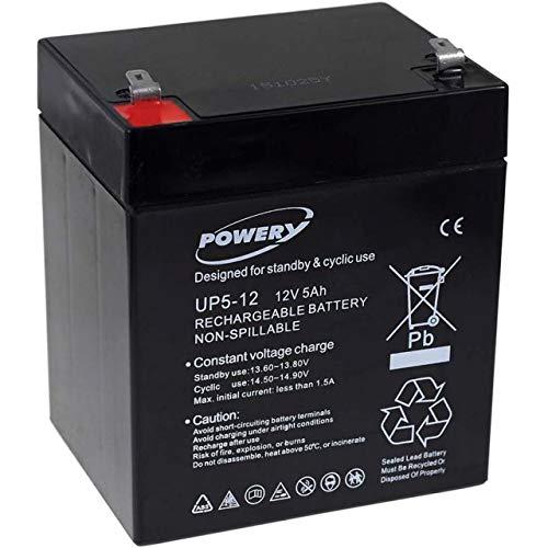 Powery Batería de Gel UP5-12 12V 5Ah
