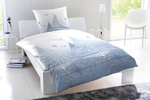 Primera Bettwäsche Perkal hellblau Größe 135x200 cm (80x80 cm)