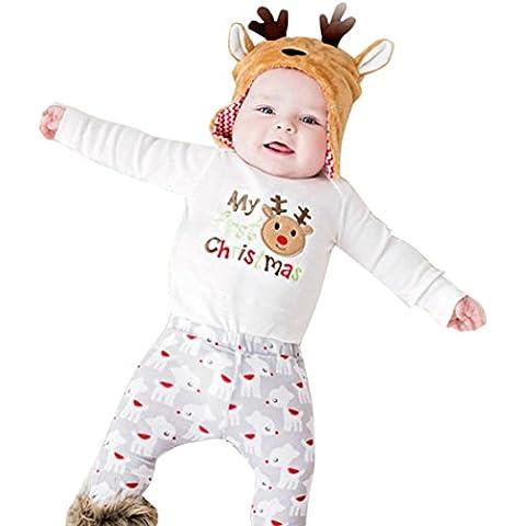 Malloom® Natale Neonato Pagliaccetto Tuta Romper Jumpsuit Bodysuit Di Manica