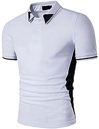 BicRad Herren Shirt Polo Kurzarmshirt Slim Polohemden Baumwolle
