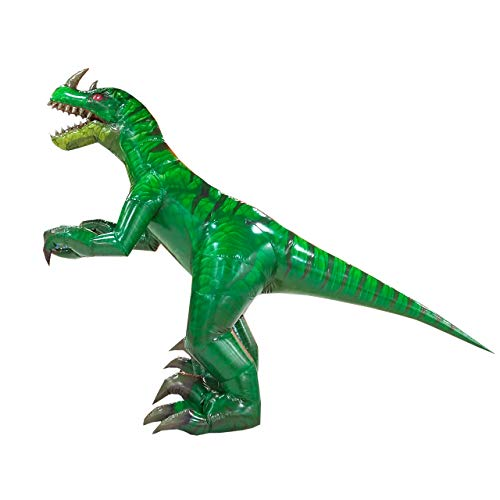 Happy Island Aufblasbares Tyrannosaurus-Kostüm Velociraptor Dinosaurier Erwachsene Halloween Rollenspiel-Spiel Verkleidung Cosplay Kleidung - grün - Large (Halloween-kostüme Tv-shows In)