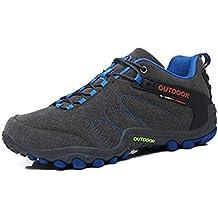 98a0390b868 Hommes Femmes Chaussures de randonnée Chaussures de Montagne en Cuir  imperméables et résistantes à l