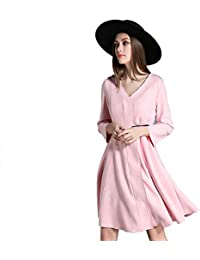 1d3b6d8257e Vitila Abrigo Manga Larga Escote En V Color Sólido Vestido De Ante  AbrigoAbrigos para Mujer Sudaderas