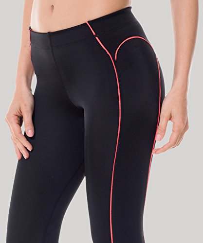 SYROKAN Damen Leggings Sport Strumpfhose – Capri Pants Laufhose - 4