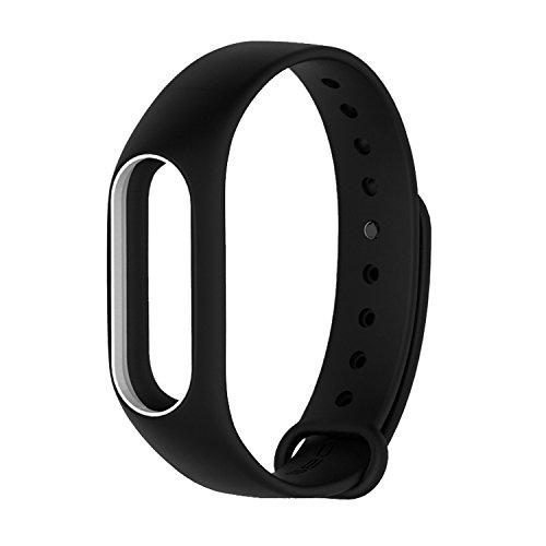 COOSA Ersatzband für Xiaomi Mi Band 2 Mehrfarbig Wasserdichter Ersatzband für XIAOMI 2 Wireless Armband Ersatzarmband (No Activity Tracker) (Schwarz+Weiß)