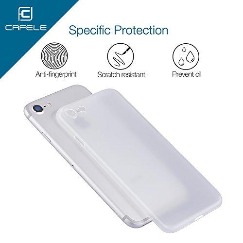 CAFELE Iphone 7 PP Slim Phone Case, Ultra Slim Boîtier Anti-Scratch et Résistant aux Empreintes Digitales Shell (Gris) Blanc
