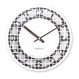 SX-ZZJ @Reloj de Pared Relojes de Pared Funciona con Pilas Sin tictac Decoración Moderna de la Sala de Estar Dormitorio silencioso Madera Reloj de Cuarzo Reloj de Pared analógico (Color : A)