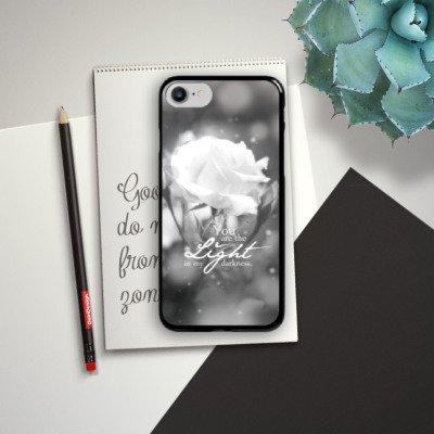 Apple iPhone X Silikon Hülle Case Schutzhülle Liebe Rose Statement Hard Case schwarz