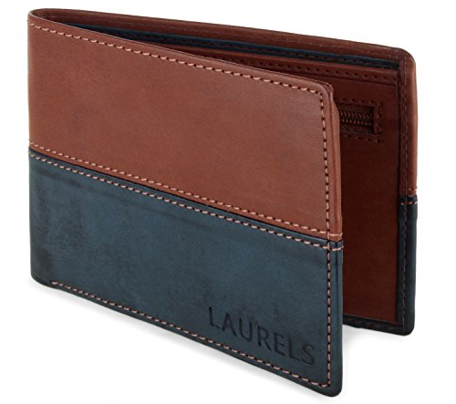 Laurels Men's Wallet Blue & Tan-ML II-0708  available at amazon for Rs.149