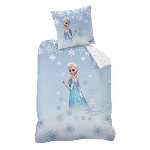 CTI 042267 Bettwäsche Disney Frozen Cristal, Baumwolle Linon, 135 x 200 und 80 x 80 cm