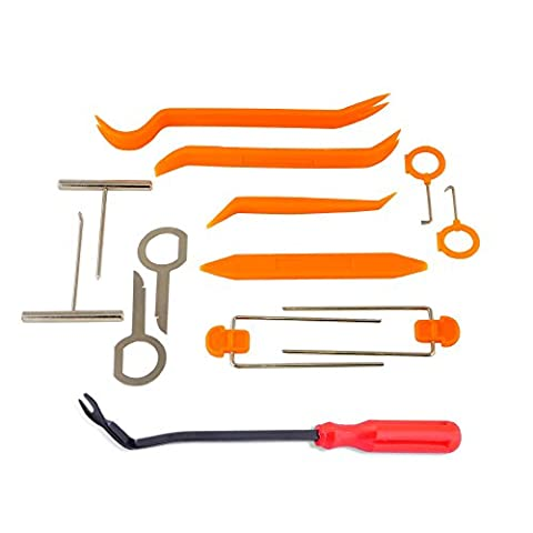 AFA [12 Pcs] Auto Trim Removal Tool ~ Strong Nylon Won't Brake Like ABS - BONUS Fastener Remover