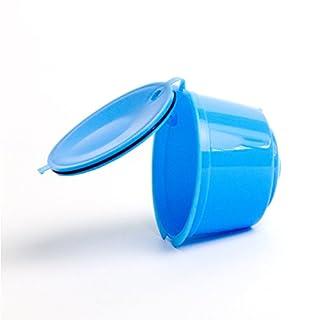 GEZICHTA Multi Farbe Kaffee Kapsel Adapter, nachfüllbar Kapselhalter, für Nescafe Dolce Gusto Brewers, Blau, Free Size