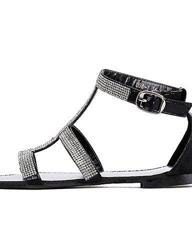 Comfort Sandalen Zeit Schwarz Freie Die elegante UWSZZ Schuhe Frau Sandalen Kunstleder Keile Black q5t8xS