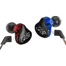 KZ ED12 Custom Style Auriculares Desmontable Cable In Ear Monitores de audio Aislamiento de ruido HiFi Music Sports Auriculares con micrófono (con MIC)
