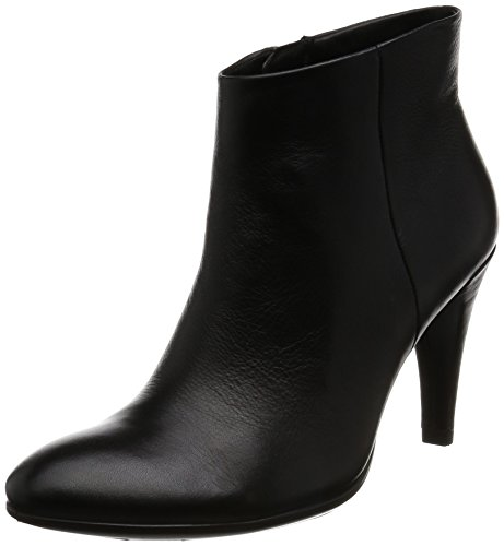 Ecco Damen Shape 75 Sleek Kurzschaft Stiefel Schwarz (Black1001)