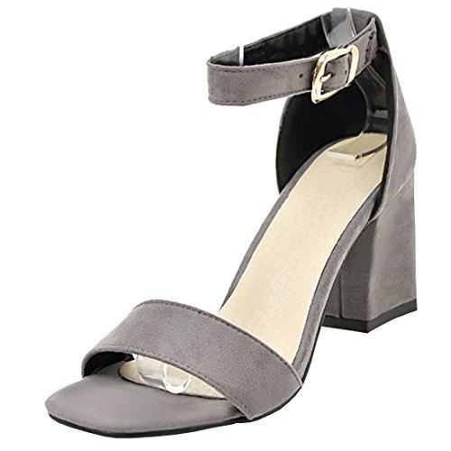 79db2232da98 Agodor Damen Riemchen High Heels Sandalen mit Schnalle und Blockabsatz Ankle  Strap Pumps Sommer Schuhe