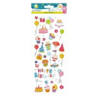 "Craft Planet Fun Stickers""Glitzy Birthday"" Stickers"