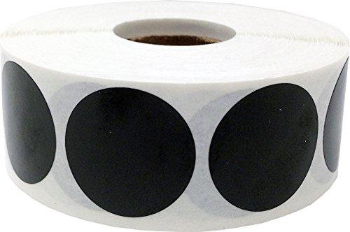 Schwarz Kreis Punkt Aufkleber, 25 mm 1 Zoll Runde, 500 Etiketten auf einer Rolle