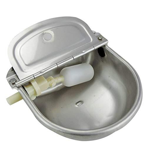 Distributore acqua - rubinetto ciotola per pollame, abbeveratoio in acciaio inossidabile con galleggiante - abbeveratoio automatico per cavallo, cane, bestiame, pecora, maiale, fattoria