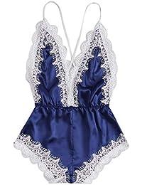 Amazon.fr   pyjama combinaison femme - Femme   Vêtements 02e4a02e632