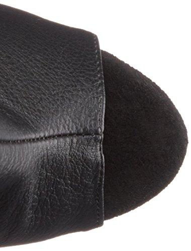 Pleaser Delight-1019 Damen Kurzschaft Stiefel Schwarz (Schwarz (Blk Faux Leather/Blk Matte))