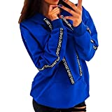 Damen Hoodie Sweatshirt Kapuzenpullover Herbst Winter Frauen Jumper Langarmshirt Streetwear Kapuzenpulli Bluse Tops
