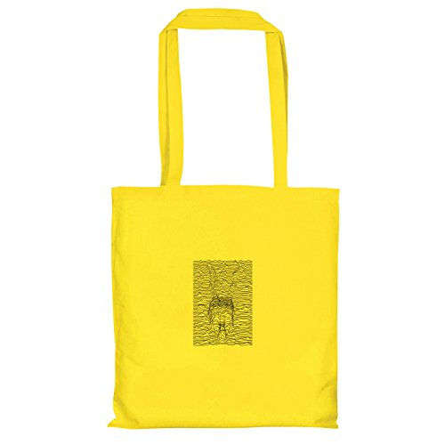 TEXLAB–Frank Lines–Sacchetto regalo in tessuto Gelb
