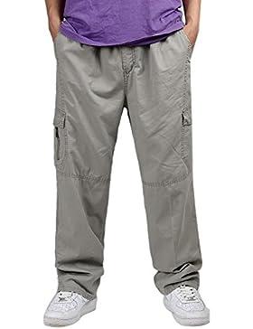 Insun - Pantalón - para hombre Gris gris XXXL