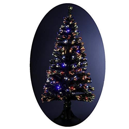 Albero di Natale artificiale luminoso con fibra ottica + 170 lampadine LED – Giochi di luce con scatola di controllo - consegnato col piede – Altezza: 150 cm