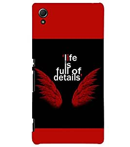 PRINTSWAG LIFE QUOTE Designer Back Cover Case for SONY XPERIA Z4