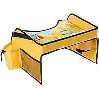 Bandeja de viaje para niños, ideal para organizar, comer o jugar en trayectos de coche, autobús, tren y avión, apta para interiores y exteriores