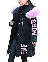 LOBTY Mädchen Wintermantel Jacke Mädchen Daunenjacke Herbst Winter Mantel mit Kapuze Warm Kinder Daunenmantel Parka Outerwear Oberbekleidung Winter Kleidung Kinderjacke