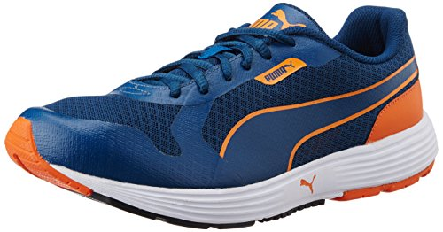 13. Puma Men's Future Runner DP Poseidon and Orange Mesh Running Shoes