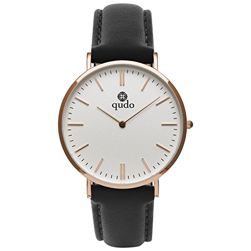 qudo Eterno Mujer Reloj Negro/roségoldfarben/blanco 803502