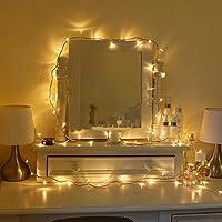 Uping Cadena de Luces Guirnalda Luminosa 100 LED, 8 Modos de Luz con Conector, para Jardines Casas Boda Navidad (Blanco Cálido)