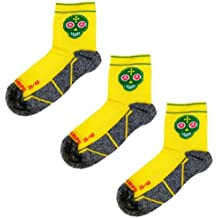 Pack Calcetines Trail Running Amarillos, 3 Pares, Hombres, Mujer, Divertidos, sin