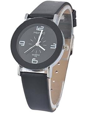 Souarts Damen Schwarz Retro Stil Armbanduhr Quartzuhr Analog mit Batterie