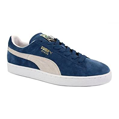 Puma Suede Classic Eco 354353 03 Unisex Laced Suede Trainers Blue White - 4