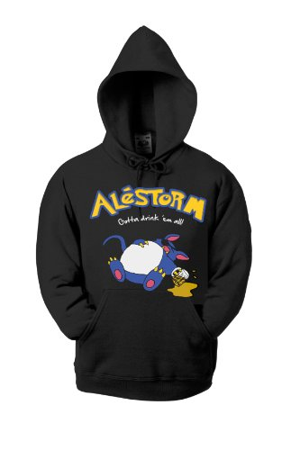 Alestorm Gotta Drink 'em All 701194 Hood Kids Black 5-6 Anni