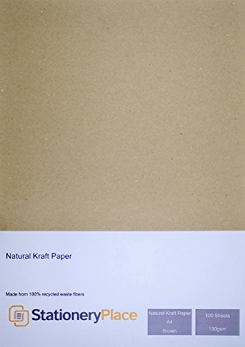 stationery-place-carta-kraft-in-formato-a4-130-g-m-100-riciclata-100-fogli-colore-marrone