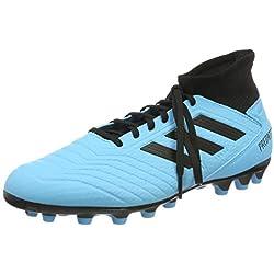 adidas Predator 19.3 AG, Zapatillas de Fútbol para Hombre, Azul (Bright Cyan/Core Black/Solar Yellow Bright Cyan/Core Black/Solar Yellow), 42 EU