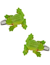 Green Frog Cuff Links in Presentation Box