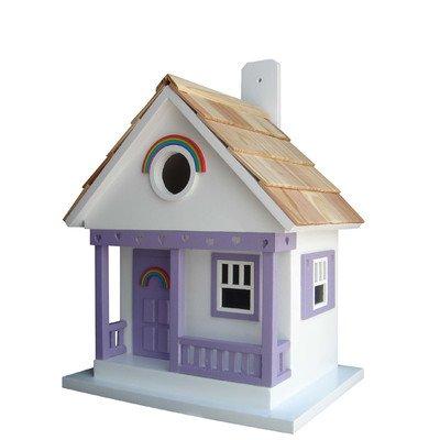 Home Bazaar The Rainbow Cottage Vogelhaus, weiß mit Lavendelfarben (Cottage Outdoor-möbel)