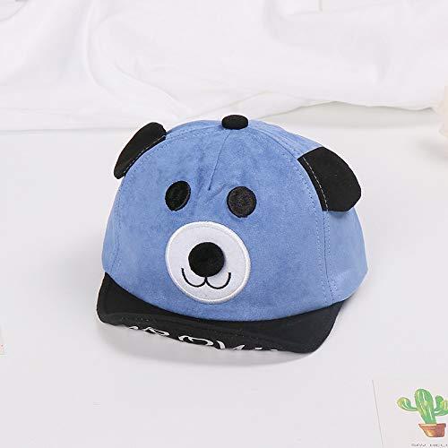 Bär Blau Kostüm - Neue Baby Hut CartoonbärweicheKappe Kinder männer und Frauen Ohren Visier baseballmütze blau 46-50 cm geeignet