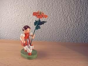 Blumenmädchen mit Reifentier, 9,5 cm