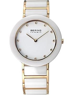 Bering Time Damen-Armbanduhr Ceramic Analog Quarz Keramik 11435-751