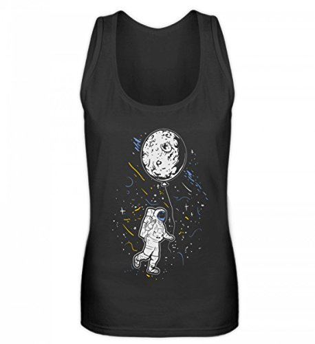 Hochwertiges Frauen Tanktop - Astronaut mit Ballon - Mond Weltraum Raumfahrer Galaxie Science Fiction Sci-FI - Kostüme Science-fiction